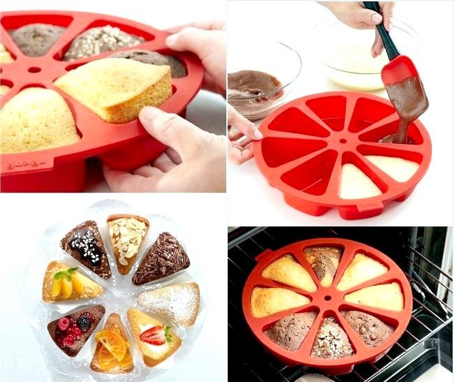 10 шалено зручних кухонних пристосувань: Форма, в якій пироги і кекси випікаються окремими кусочкаміКаждий окремий шматочок кексу може бути зроблений з