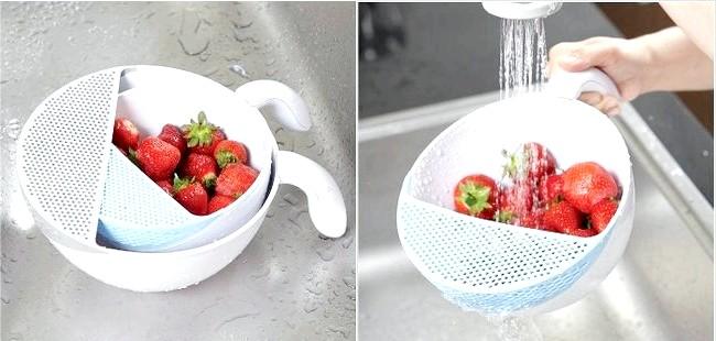 10 шалено зручних кухонних пристосувань: Чаша для миття фруктів