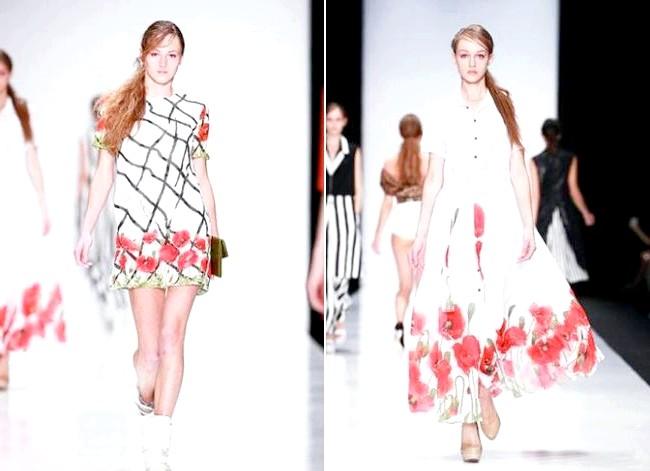 10 нових колекцій весна-літо 2015: Колекція Весна-Літо 2015 від дизайнера Надя Хохлова На створення весняно-літньої колекції дизайнера надихнули маки - символ