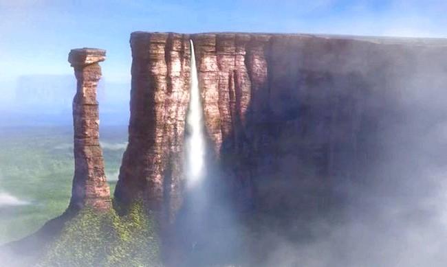 15 місць, що надихнули Діснея на створення їх копій: Райський водопад з мультфільму «Вгору». Прототип - водоспад Анхель в національному парку Канайма, Венесуела