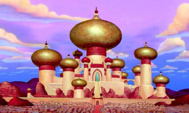 15 місць, що надихнули Діснея на створення їх копій: Палац султана з мультфільму «Аладдін». Прототип - Тадж Махал, Індія
