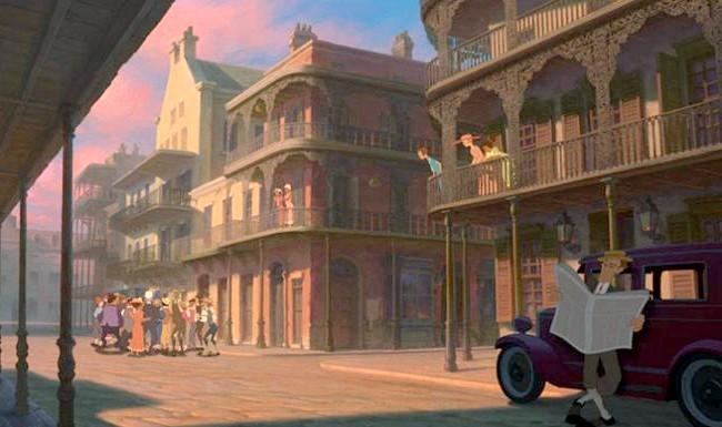 15 місць, що надихнули Діснея на створення їх копій: Місто з мультфільму «Принцеса і жаба». Прототип - Новий Орлеан, Лос-Анджелес