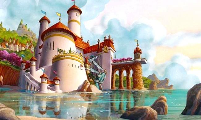15 місць, що надихнули Діснея на створення їх копій: Королівський палац у «Заплутаною історії» / Замок принца Еріка в «Русалоньку». Прототип - замок Мон-Сен-Мішель у Франції