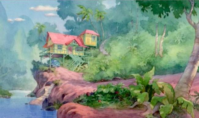 15 місць, що надихнули Діснея на створення їх копій: Місцевість з мультфільму «Ліло і Стіч». Прототип - округ Кауаї, Гаваї