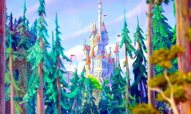 15 місць, що надихнули Діснея на створення їх копій: Палац Чудовиська з мультфільму «Красуня і чудовисько». Прототип - замок Шамбор, долина Луари, Франція