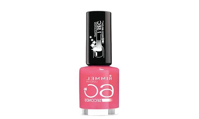 19 засобів для підготовки до випускного балу: Швидкосохнучий лак для нігтів Rimmel 60 Seconds Довгі, більш гнучкі ворсинки пензлика дозволяють лаку створювати повноцінне,