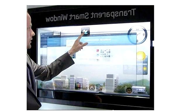 5 революційних пристроїв з сенсорним управлінням: [center] Рис. 5. SamsungSmartWindow [/ center] Дивно, але перший телевізор з сенсорним екраном з'явився більше 25 років тому,