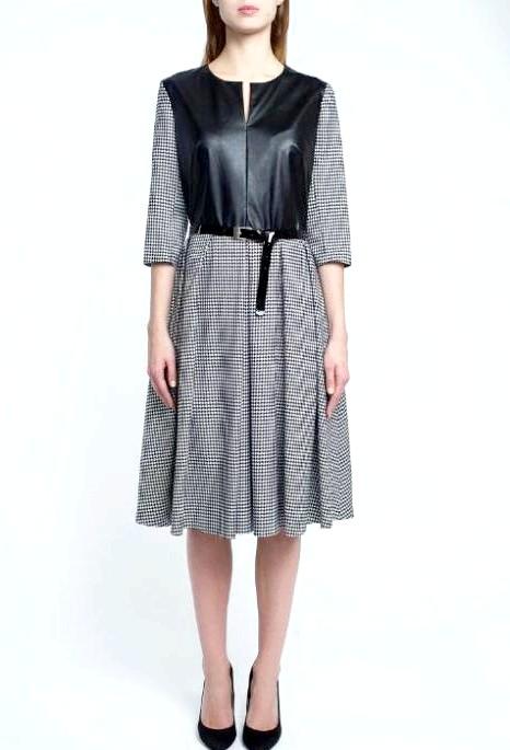 7 вовняних суконь для будь-якої погоди: [center] [i] Сукня Яна Берегова, 7000 руб. [/ I] [/ center]
