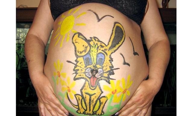 Боді-арт під час вагітності на Еве.Ру: Автор: Dialvi