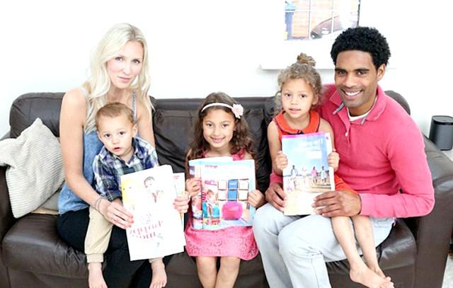 Найкрасивіша сім'я Великобританії: [i] «Вони настільки успішні не тільки через приємної зовнішності. Просто вони - справжня щаслива молода сім'я. Їхні діти грають один з