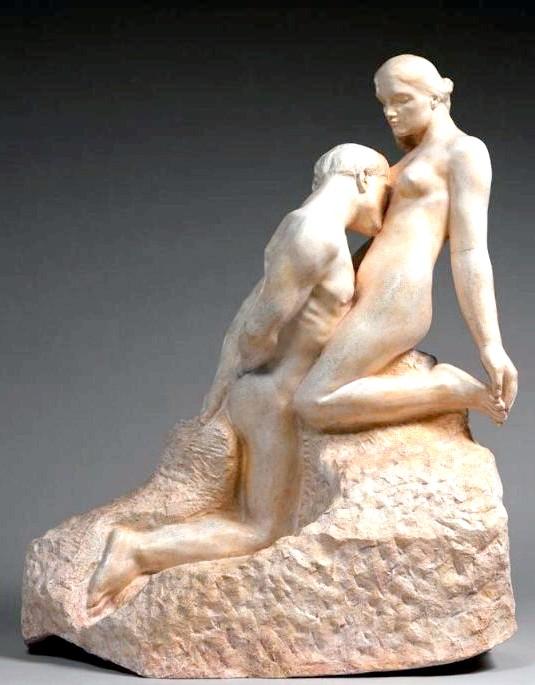 Десять найбільш чуттєвих скульптур закоханих: Вічний ідолЕто ще одна робота Огюста Родена (1889), чуттєва і драматична композиція, навіяна особистими відносинами