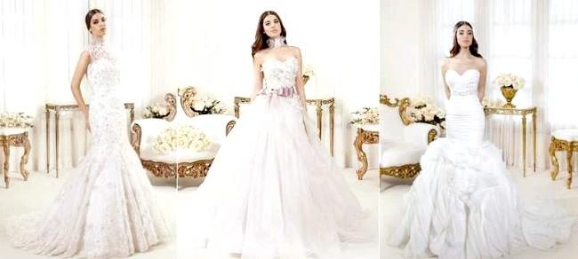 Дизайнери представили весільні сукні 2014-2015: [i] Весільні сукні Julie Vino 2014 [/ i] Хвилюючі вирізи притягують погляд, а мереживні вишивки і волани роблять весільну колекцію