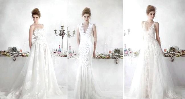 Дизайнери представили весільні сукні 2014-2015: [i] Весільна колекція Basil Soda 2014 [/ i] У дебютній колекції дизайнера весільні образи вийшли легкими, свіжими для юних дівчат