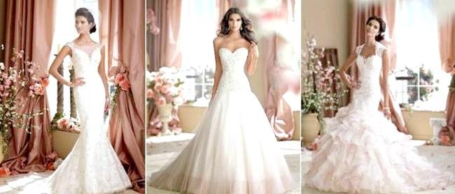 Дизайнери представили весільні сукні 2014-2015: [i] David Tutera весільна колекція 2014 [/ i] Гламурна колекція весільних суконь зроблена з тканин високої якості і розшита вручну