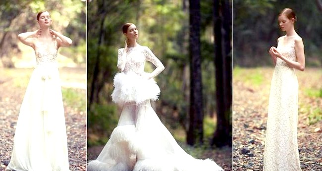 Дизайнери представили весільні сукні 2014-2015: [i] Весільні сукні George Wu 2014 [/ i] Кожне весільне плаття як твір мистецтва, зшиті з французького мережива, шовкових японських