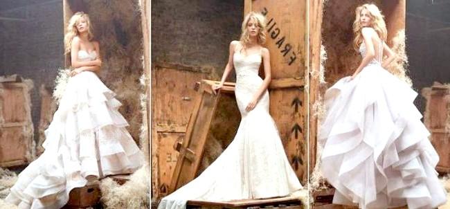 Дизайнери представили весільні сукні 2014-2015: [i] Весільні сукні JLM Couture 2014 [/ i] Велика корпорація JLM Couture, в якій представлені весільні вбрання від восьми відомих