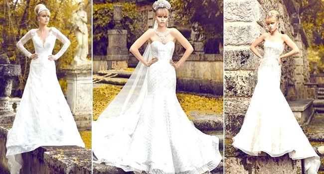 Дизайнери представили весільні сукні 2014-2015: [i] Весільні сукні Jorge Manuel 2014 [/ i] Ця колекція весільних суконь була створена під враженням від відвідування садів Версаля.