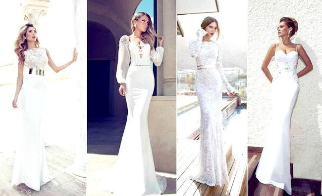 Дизайнери представили весільні сукні 2014-2015: [i] Весільні сукні Julie Vino 2014 [/ i] Ручний роботи парча з Індії, унікальне мереживо з Франції, тканини з детальною