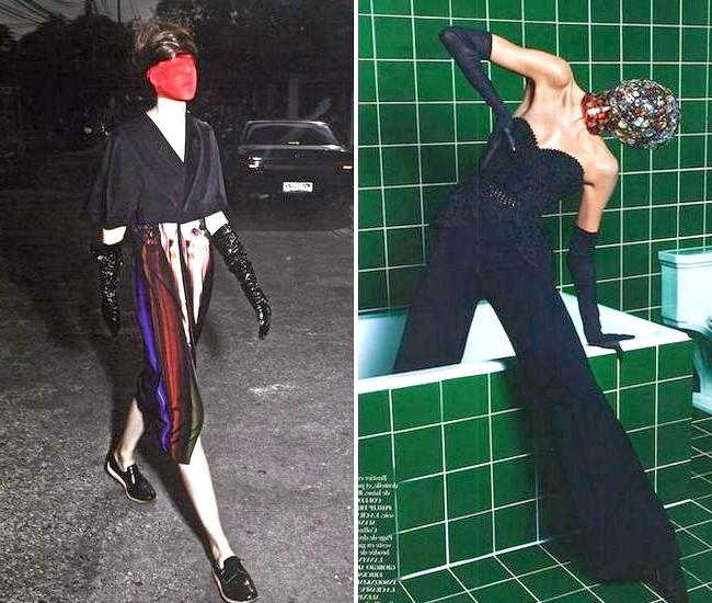 Довгі рукавички - тренд сезону весна / літо 2013: Vogue Australia, лютий 2013, і W Magazine, березень 2013