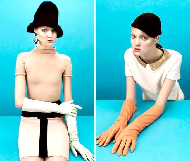 Довгі рукавички - тренд сезону весна / літо 2013: Vogue UK, лютий 2013