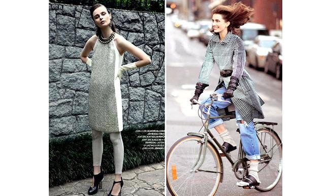 Довгі рукавички - тренд сезону весна / літо 2013: Vogue Paris і Russh лютий-березень 2013