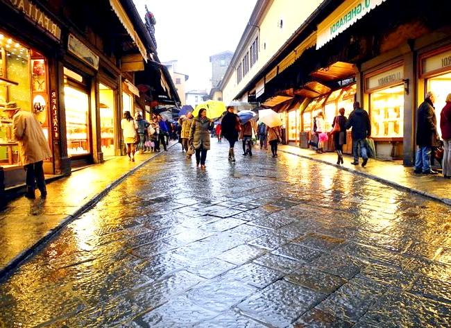 Дощова Флоренція: Ювелірні магазини на Ponte Vecchio