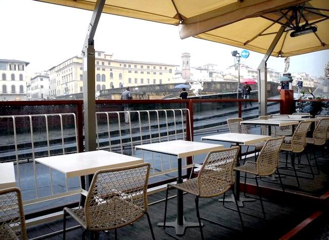 Дощова Флоренція: Кафе на набережній.