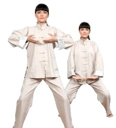 Дихання для вагітних жінок з тайцзи-цюань: Вправа 1. нагнітати дихання Початкове положення: ноги на ширині плечей, стопи паралельно один одному, коліна зігнуті