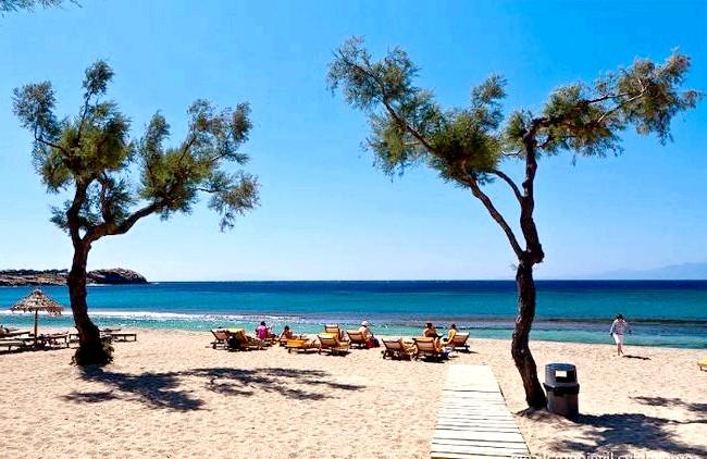 Європейські Багами: грецький острів Міконос: пляж