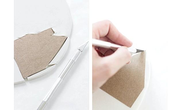 Глиняні горщики для квітів своїми руками: Крок 2: Якщо ви використовуєте шаблон, то обрізаємо його акуратно по контуру, або вирізаємо частини горщика на око.