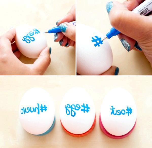 Ідеї   для прикраси яєць до Великодня: Ідея N3