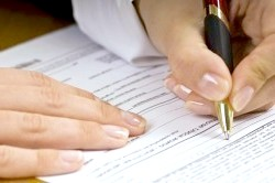 Підпис документації про розподіл майна