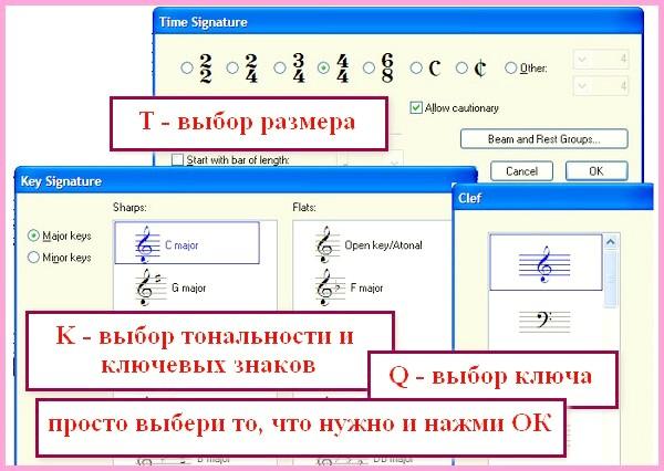при наборі нот в Sibelius зручно використовувати гарячі клавіші