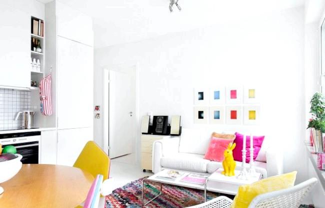 Як створити скандинавський інтер'єр в новобудові: Більше креативу! Абсолютно білий простір відмінно виглядало б в старій будівлі в центрі або в затишному котеджі