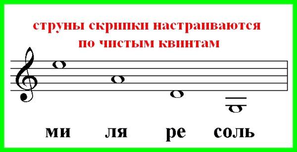 у скрипки чотири струни