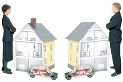 Розділ службової квартири між подружжям