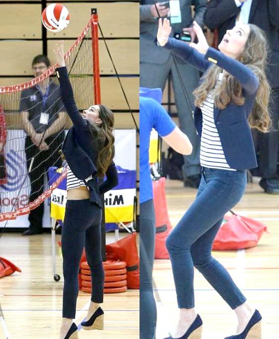 Кейт Міддлтон грала у волейбол без чоловіка: