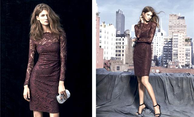 Кендра Спірс у новій рекламній кампанії Next: Щільні тканини, мереживо і атлас лягли в основу нової колекції Next. Мереживні облягаючі сукні ягідних відтінків, а також чорні сукні