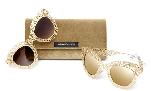 Колекція окулярів і оправ Dolce & Gabbana Filigrana: Для створення колекції Dolce & Gabbana сезону Осінь / Зима 2014, використовувалася одна з найдавніших і найкрасивіших ювелірних технік - філігрань, щоб надати взуття