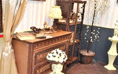 Кімната з шоколаду: Під час створення унікальної кімнати було витрачено 420 кілограм шоколаду.
