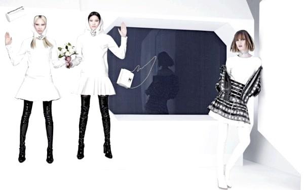 Космічна рекламна кампанія Chanel: [i] Нова колекція від Chanel саме така - вона незвичайна, стильна, космічна і завжди вище всіх. Це еталон жіночої моди і