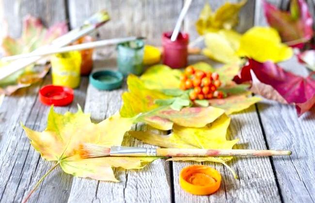 Барви осені - прикрасимо будинок своїми руками: Фарби листопада Навіть якщо ви не вмієте малювати, за допомогою осіннього листя ви зможете створити цікаву картину і вставити