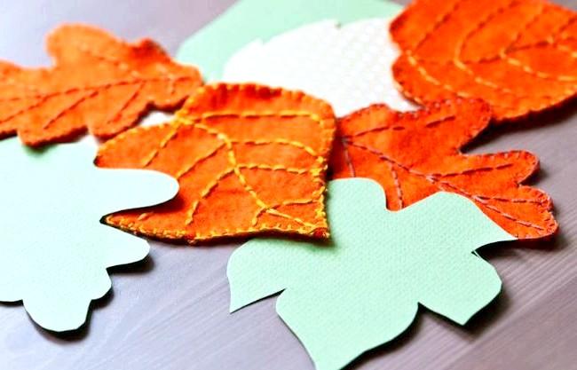 Барви осені - прикрасимо будинок своїми руками: Декор з фетру Створення подібних прикрас також не вимагає великих зусиль. Необхідно просто вирізати листя з жовтого, червоного, оранжевого