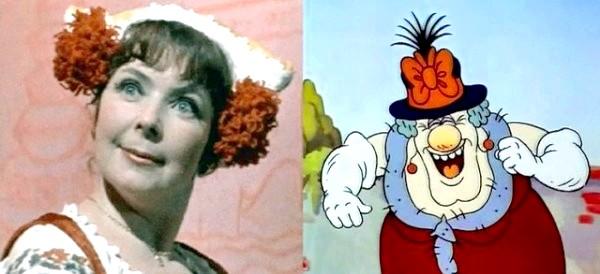 Хто озвучував улюблені мультфільми: «Пригоди поросяти Фунтика», 1986 рік. Пані Беладонна - Ольга Аросєва