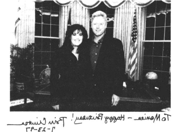 Левінські порушила мовчання: Оцінюючи зв'язок з Біллом Клінтоном, Левінські зазначила, що це були відносини між двома дорослими людьми. «Звичайно,