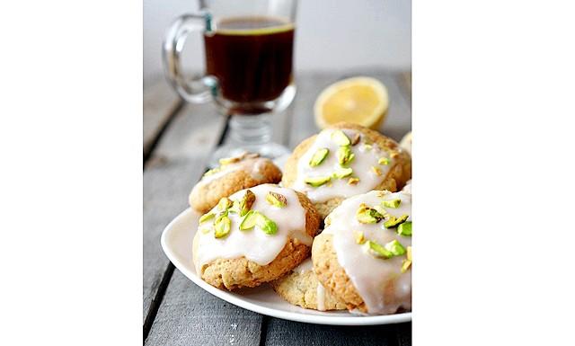 Лимонне печиво з фісташками: