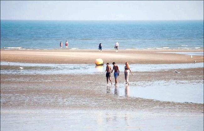 Улюблений пляж світової кінобогеми: Справжня поверхню оголюється під час відливу. Саме так раніше виглядав весь пляж.
