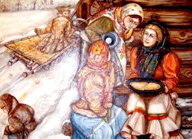 Масляна в живописі: [i] Мирочкіна Олександра «Масляна» [/ i]