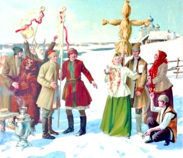 Масляна в живописі: [i] Крилов Сергій «Масляна» [/ i]