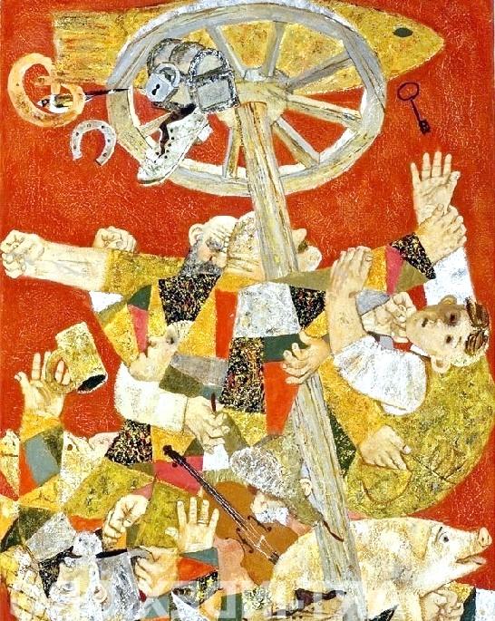 Масляна в живописі: [i] Покідишев Павло «Колесо фортуни» [/ i]